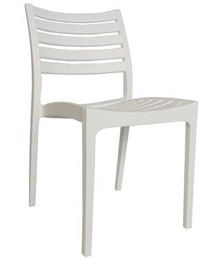 Dimehouse Chaise de jardin moderne Senna blanc