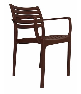 Dimehouse Chaise de jardin moderne Breaz brun