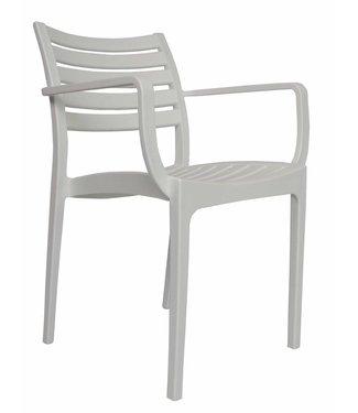 Dimehouse Chaise de jardin moderne Breaz blanc