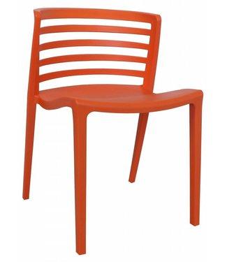 Dimehouse Chaise de jardin moderne Norrie orange