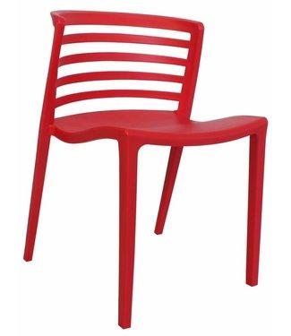 Dimehouse Chaise de jardin moderne Norrie rouge