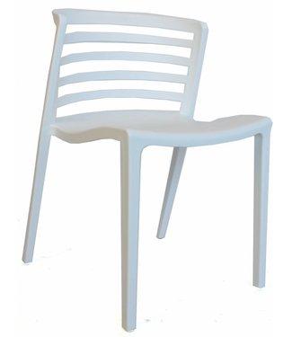 Dimehouse Chaise de jardin moderne Norrie blanc
