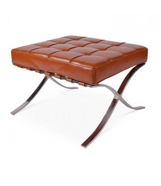 Dimehouse Hocker Design Expo cognac premium leer