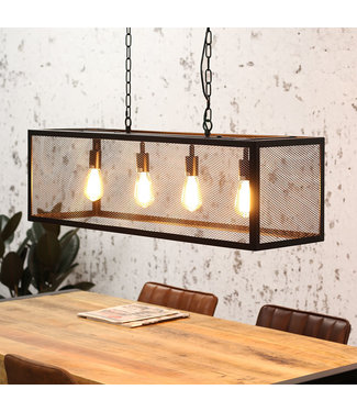 Dimehouse Suspension Luminaire Noir Design Industriel - Sucre 4L
