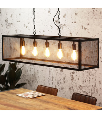 Dimehouse Suspension Luminaire Noir Design Industriel - Sucre 5L