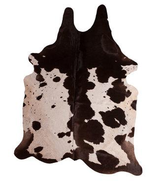 Dimehouse Peau de vache 140x200 brun foncé-blanc