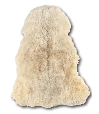 Dimehouse Peau de Mouton cheveux longs bouclés blanc 100x70 cm