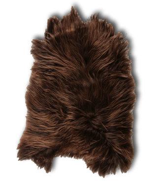 Dimehouse Peau de Mouton brun 85x65 cm