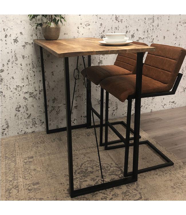 Dimehouse Table De Bar Bois Industriel 130x70x115 cm - Vegas