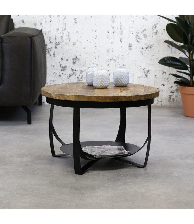 Dimehouse Table Basse Bois Massif  Industriel 70 cm - Oxis