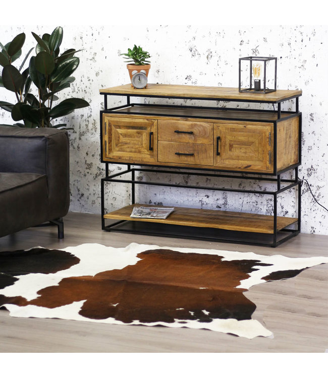Dimehouse Commode Bois Massif  Industriel - Texas