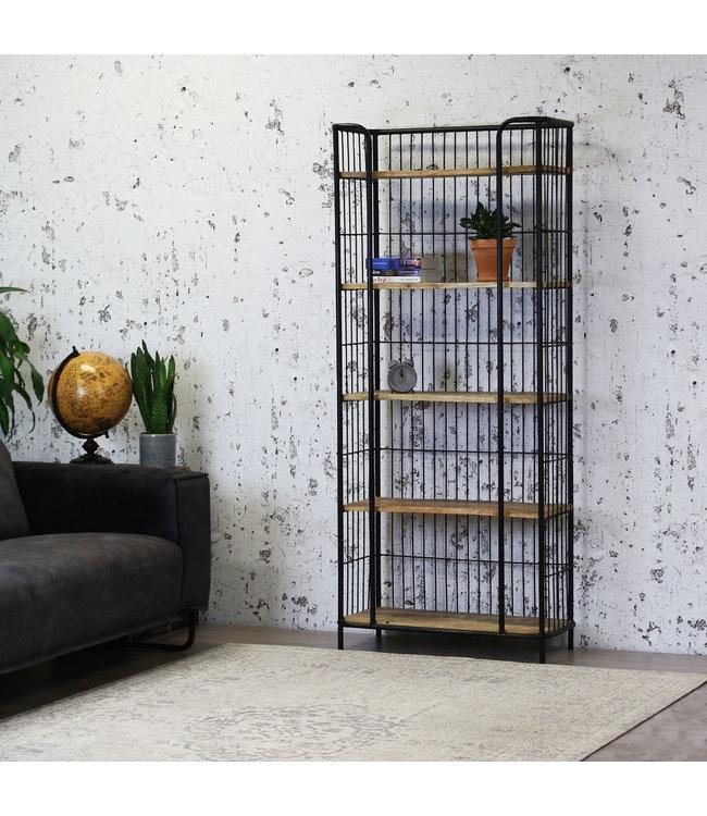 Dimehouse Boekenkast Industrieel Estelle 80x180 cm