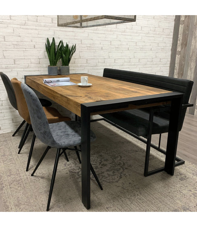 Dimehouse Table Salle A Manger Bois Maasif Industriel 180x90cm - Colorado