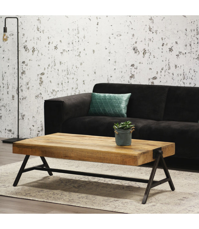 Dimehouse Table Basse Bois Massif  Industriel - Avia