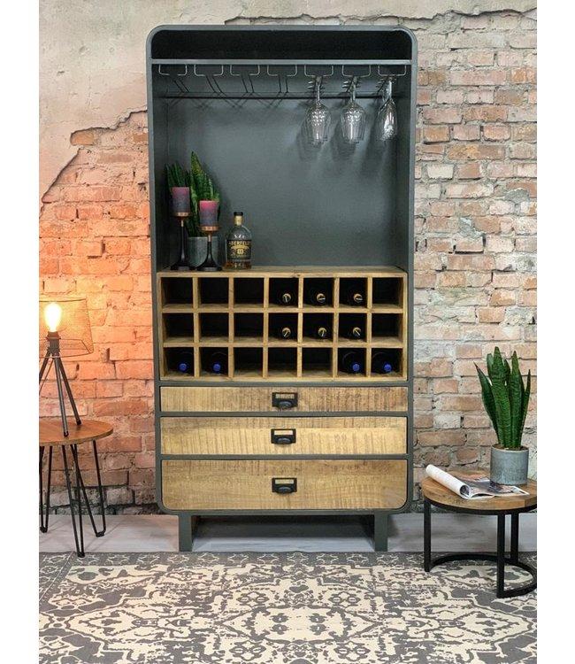 Dimehouse Casier A Vin Industriel 200x100 - Yecla