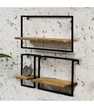 Dimehouse Wandplank Industrieel set van 3 Nox