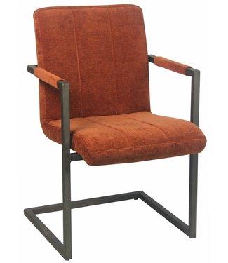 Dimehouse Chaise Salle A Manger Orange Foncé Industrielle Tissu Jackson