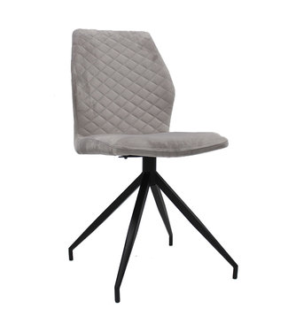 Dimehouse Chaise Salle A Manger Grise Industrielle Grizzly