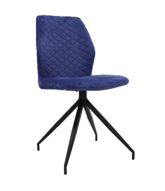 Dimehouse Chaise Salle A Manger Bleue Industrielle Grizzly