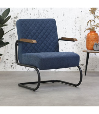 Dimehouse Fauteuil Industrieel Mustang vintage blauw