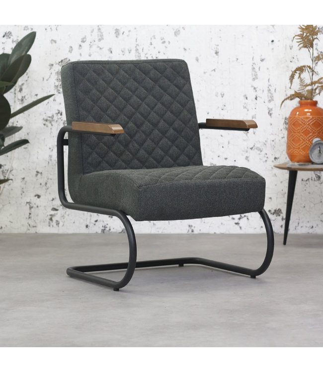 Dimehouse Fauteuil Industrieel Mustang vintage antraciet