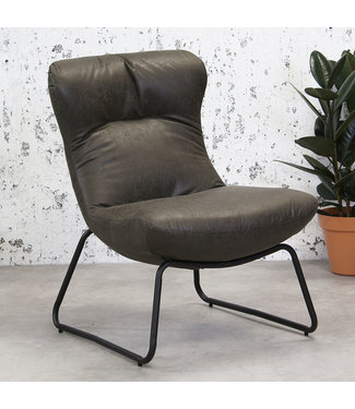 Dimehouse Industriële fauteuil Max antraciet