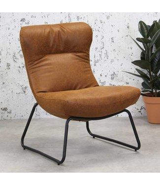 Dimehouse Industriële fauteuil Max cognac