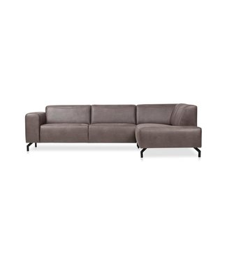 Canapé d'Angle Brun Microfibre Industriel Barin - Droit