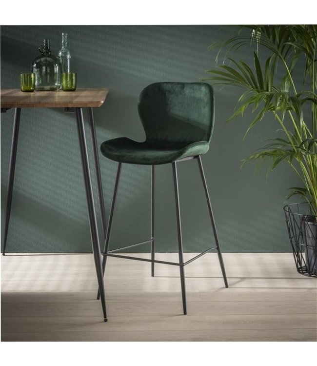 Tabouret De Bar Vert Velours Lot De 4 - Shawn