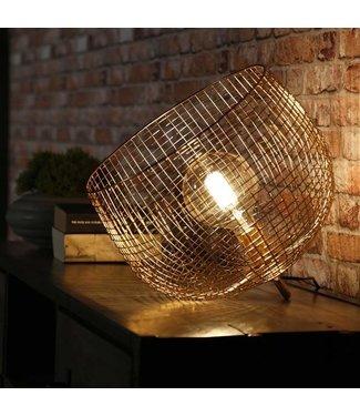 Metalen gouden tafellamp Joy  39 cm