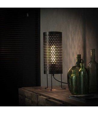 Industriële kokervormige tafellamp Bennet 46 cm