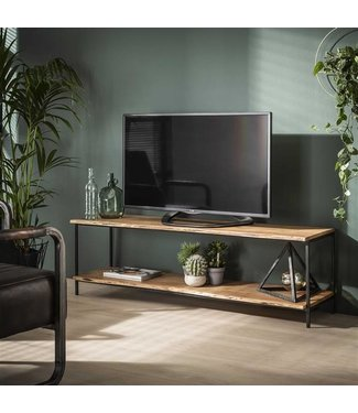 Dimehouse Meuble TV Bois Massif Industriel - Morin