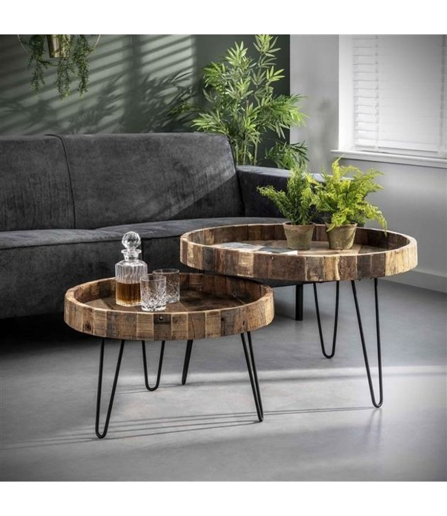 Dimehouse Table Basse Ronde Double Plateau Zeth