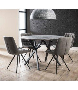 Table De Salle À Manger Betonlook Industrielle Ø 120 cm - Julian