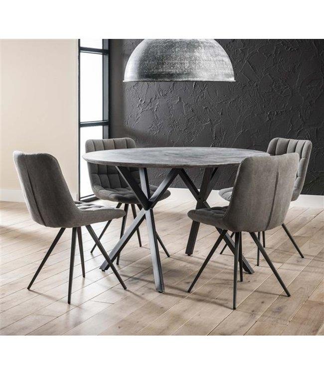 Ronde eettafel Julian industrieel Ø120 cm betonlook