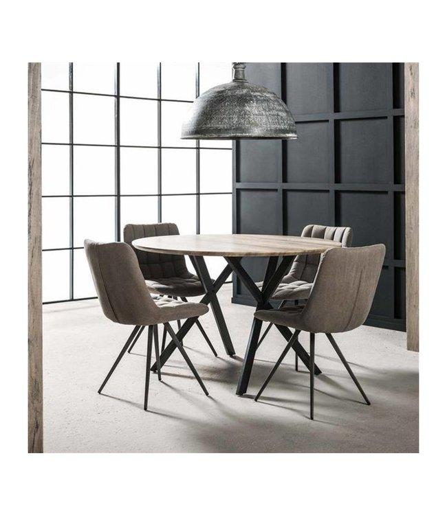Table De Salle À Manger Industrielle Ø 120 cm - Julian