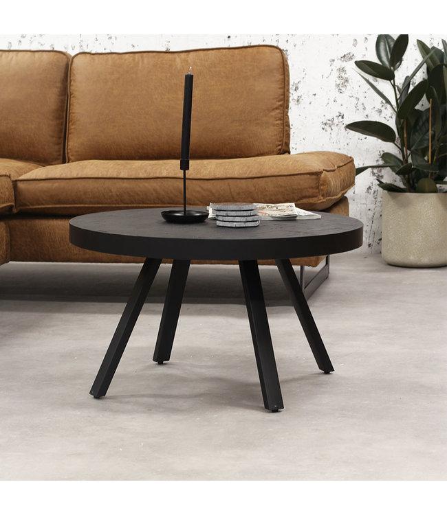 Table d'Appoint Bois Teak  Ø74 cm Industriel Blackster