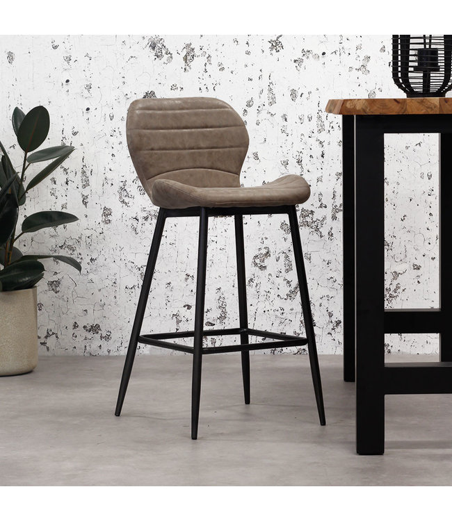 Tabouret De Bar Brun Industriel Carl