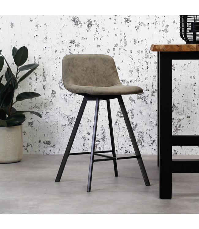 Tabouret De Bar Brun Clair Lot De 2 - Riga