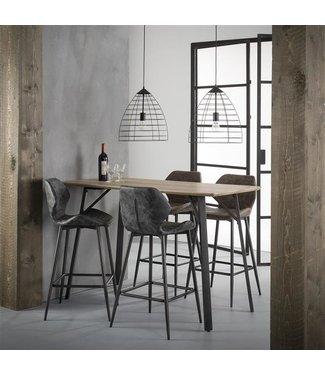 Table De Bar Bois MDF 140 cm -  Greywash Elza