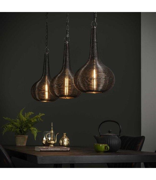 Industriële hanglamp 3-lichts Tiso