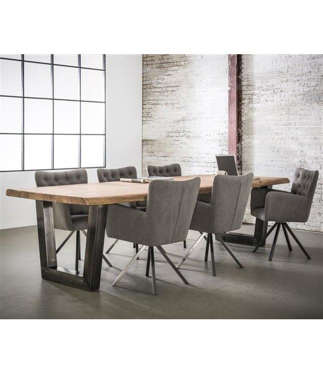 Industriële tafel Tobias Acaciahout 240x100 cm