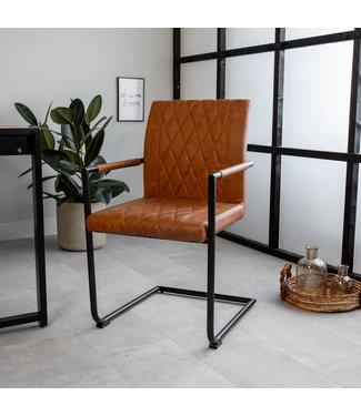 Dimehouse Chaise de salle à manger Brune Industrielle Bexley