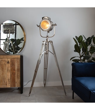 Dimehouse Staande Lamp Industrieel Gabe nickel