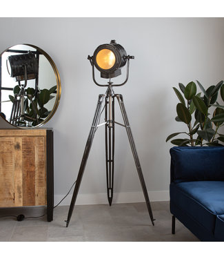 Dimehouse Staande Lamp Industrieel Gabe fade grey