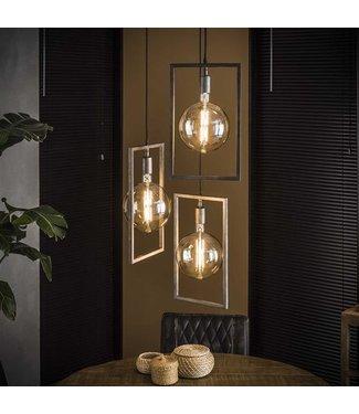 Industriële hanglamp Sifra 3-lichts getrapt