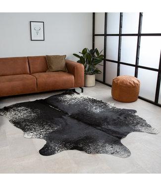 Peau de vache 140x200 couleur noir blanc