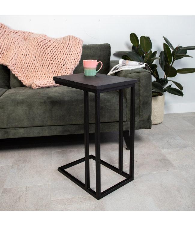 Table PC Portable Industrielle Sydney Bois Noir