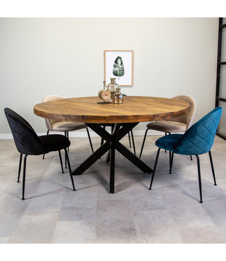 Dimehouse Table Salle A Manger  Industrielle Ronde Dakota Ø150 cm