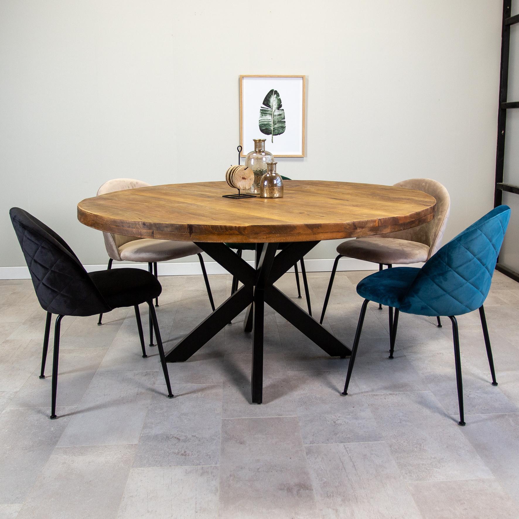 table salle a manger industrielle ronde o150 cm i livraison gratuite